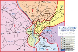 2020 town shopper coupons marketing map