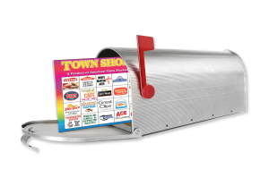 lg mailbox with town shopper coupons booklet